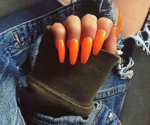 orange and nails image