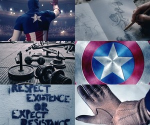 aesthetic, captain america, and blue image