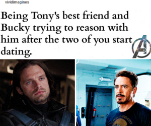 bucky, imagine, and Marvel image