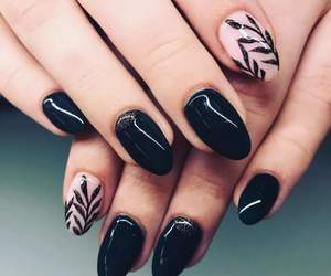 beauty, black nails, and fashion image
