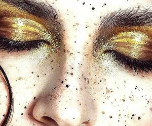 gold and makeup image
