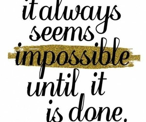 quotes, impossible, and motivation image
