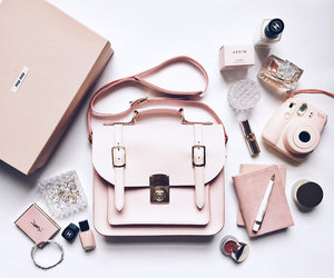 pink, bag, and accessories image