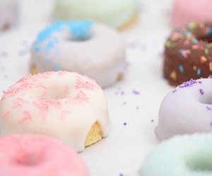 chocolate, doughnuts, and glazed image