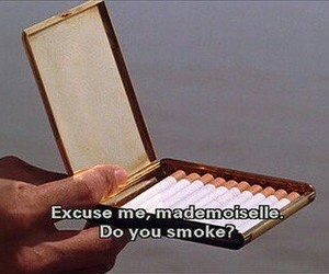 smoke, cigarette, and Mademoiselle image