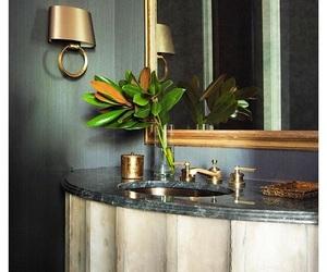 bathroom, decor, and green image