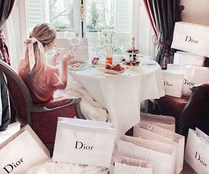 dior, luxury, and breakfast image