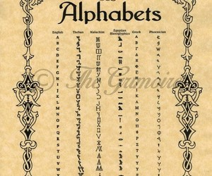 alphabet, magic, and wicca image