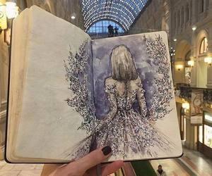 art, dress, and girl image