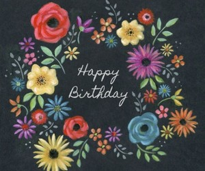 birthday card, colourful, and pretty image