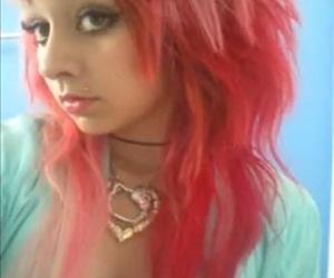 emo, pink hair, and angel bites image