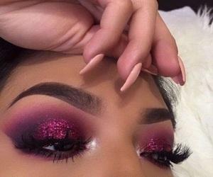 eyebrows, pretty, and eyelashes image