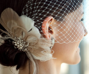 etsy, bridal fascinator, and feather fascinator image