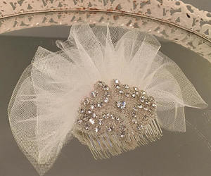 etsy, bridal fascinator, and bridal hairpiece image