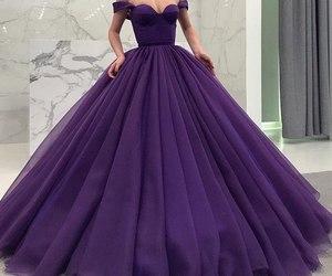 dress, Prom, and purple image