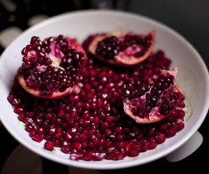 pomegranate, red, and fruit image