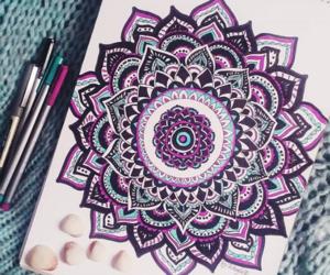art, colors, and mandala image
