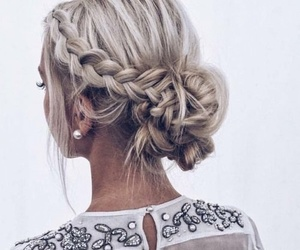 beauty, braid, and girl image