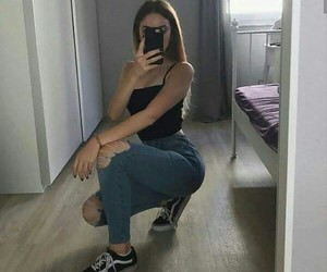 tumblr, outfit, and vans image