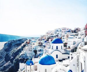 blue, Greece, and greek island image