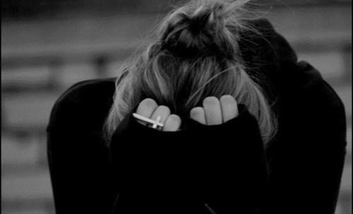 girl, hair, and sad image