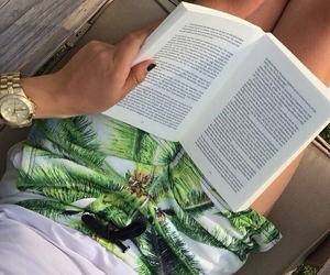 aesthetic, booklovers, and beach image