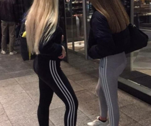 adidas, best friend, and bff image