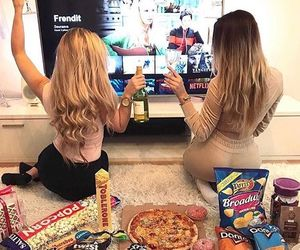 friends, food, and bff image