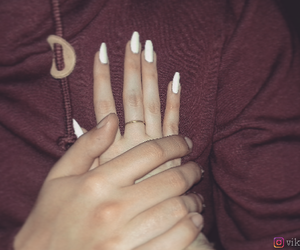 couple, whitenails, and love image