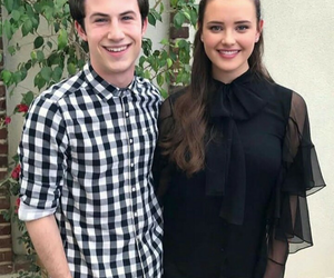 dylan minnette, katherine langford, and clay image