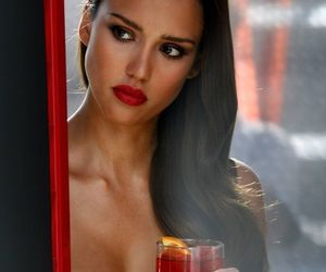 jessica alba, sexy, and red image
