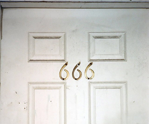 666, door, and grunge image