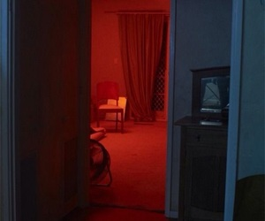 neon, red, and room image