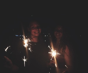 best friends, friendship, and sparklers image