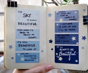 journal, quotes, and art image