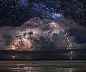 nature, night, and storm image