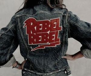 rebel, style, and denim image