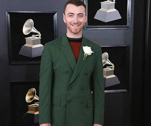 red carpet and sam smith image