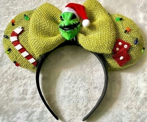 disney, mickey ears, and the nightmare before christmas image