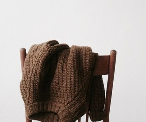 brown, sweater, and aesthetic image