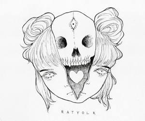 art, heart, and ratskeleton image
