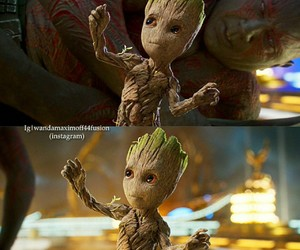 guardians of the galxy and baby groot image