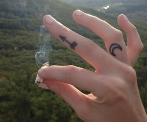 tattoo, smoke, and cigarette image