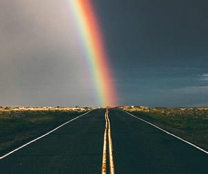 rainbow and carretera image