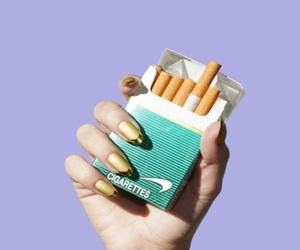 cigarette, nails, and purple image