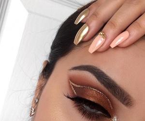 makeup, eyeshadow, and nails image