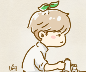 cafe, chibi, and coffee image