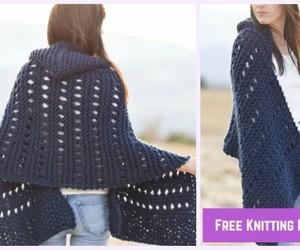fashion and crochet hoodie wrap image