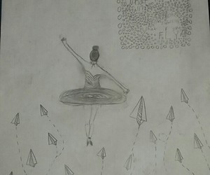 ballet, paper planes, and art image