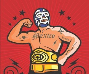 luchador, mask, and mexico image